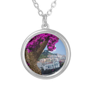 On the trips you see the wonder of different world silver plated necklace