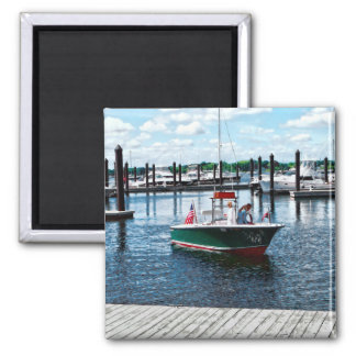 On The Water In Bristol Rhode Island Square Magnet