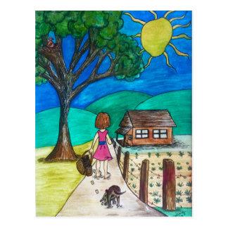 """On the Way Home"" Postcard"