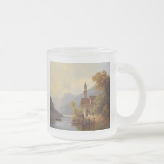 On the Way to Mass 10 Oz Frosted Glass Coffee Mug