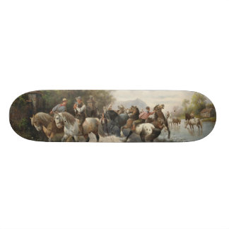 On the Way to the Horse Fair Skate Board Decks