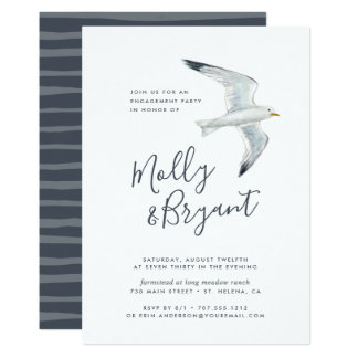 On the Wing | Engagement Party Invitation