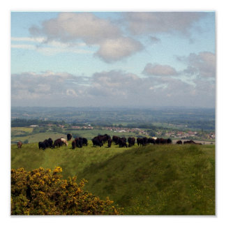 On Top Cley Hill Poster