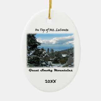 On Top of Mt. LeConte GSM Photo Art Ceramic Ornament