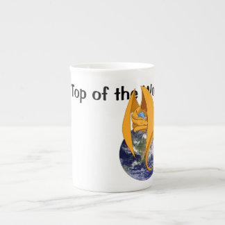 """""""On Top of the World"""" Dragon Bone China Mug"""
