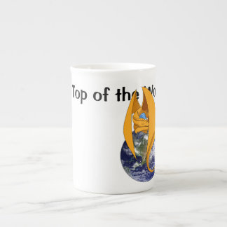"""""""On Top of the World"""" Dragon Tea Cup"""