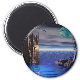 On Top of the World /Round Magnet
