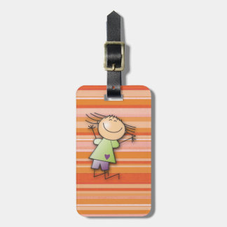 on vacations! luggage tag