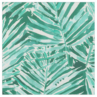 ON VACAY Tropical Palm Watercolor Fabric