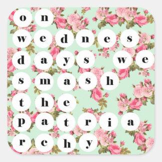 """On wednesdays we smash the patriarchy"" Sticker"
