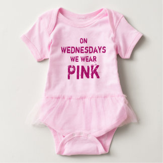 On Wednesdays We Wear Pink Baby Tutu Bodysuit