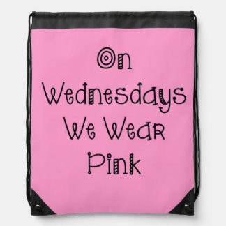 On Wednesdays We Wear Pink - Drawstring Backpack