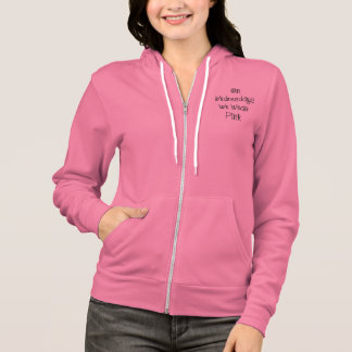 On Wednesdays We Wear Pink Slogan Zip Up Hoodie