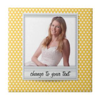 on white & sunny yellow polkadot tile