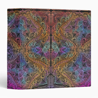 On winding rainbow of time, new age pattern. binder
