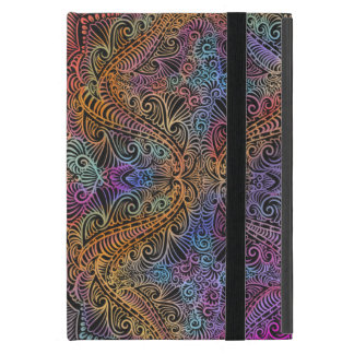 On winding rainbow of time, new age pattern. cover for iPad mini
