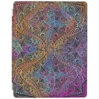On winding rainbow of time, new age pattern. iPad cover