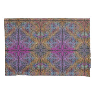On winding rainbow of time, new age pattern. pillowcase