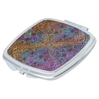 On winding rainbow of time, new age pattern. travel mirrors