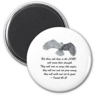On wings like Eagles - Is 40:31 Magnet