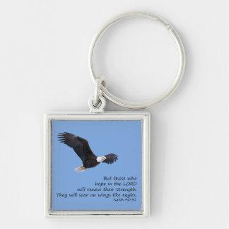 On Wings Like Eagles Keychain