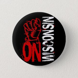 ON WISCONSIN 2 INCH ROUND BUTTON