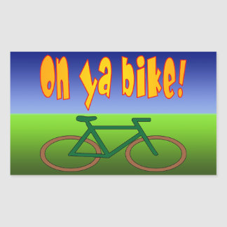 On Ya Bike! Cycling Go Green Zero Emissions Sticker