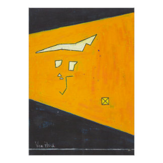 on yellow ground print