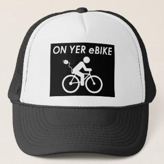 """""""On Yer eBike"""" custom hats"""