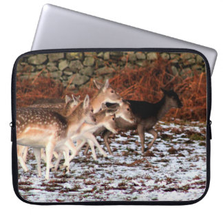 On your marks (deer) laptop sleeve