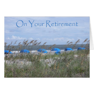 On Your Retirement Doctor - Beach and Umbrellas Card