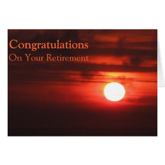 On your Retirement - Fiery Sunset II Card