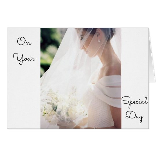 ON YOUR WEDDING DAY-LOVE AND HAPPINESS IN NEW LIFE CARD