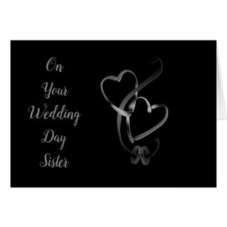 ON YOUR WEDDING DAY **SISTER** LOVE AND HAPPINESS CARD