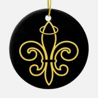 Once a SAINT Round Ceramic Ornament