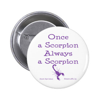 Once a Scorpion Pinback Buttons