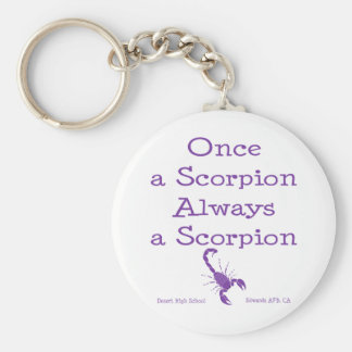 Once a Scorpion Keychains