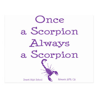 Once a Scorpion Postcard