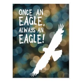 once an eagle always an eagle postcard