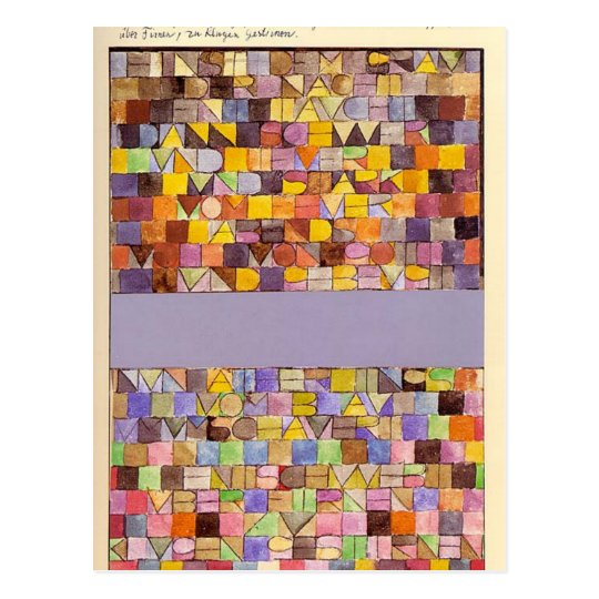 Once Emerged from the Grey of Night by Paul Klee Postcard