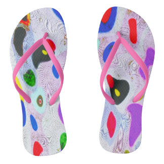 """Once on the  sandy beach""  slim straps Flip Flops"