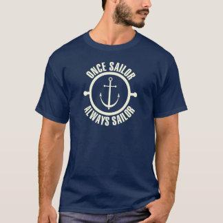 Once Sailor Always Sailor White Color T-Shirt