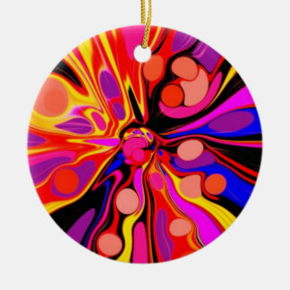 Once Upon A Groovy Time Ceramic Ornament