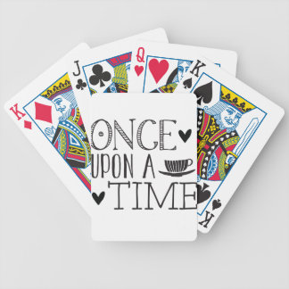 once upon a time bicycle playing cards