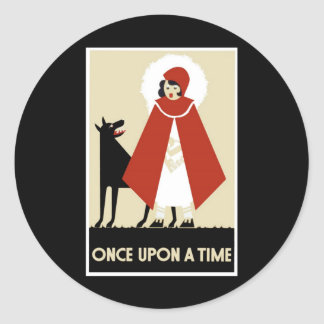 Once Upon A Time By Whitley Kenneth Round Sticker
