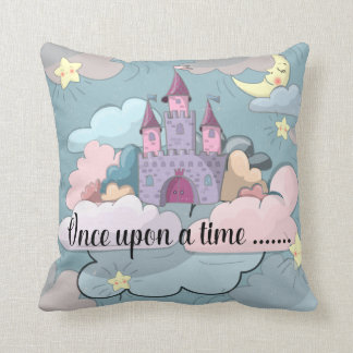 Once Upon A Time Castle in the Clouds Throw Pillow