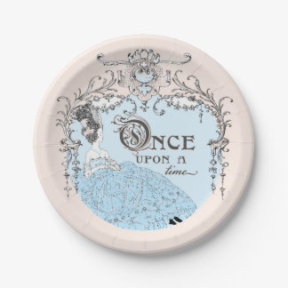 Once Upon a Time Cinderella Paper Plate 7 Inch Paper Plate