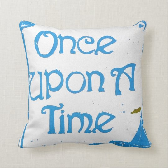 Once Upon A Time in Blue Pillow