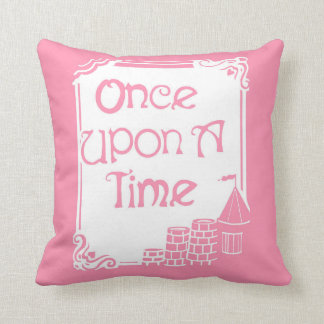 Once Upon A Time Pink and White Pillow