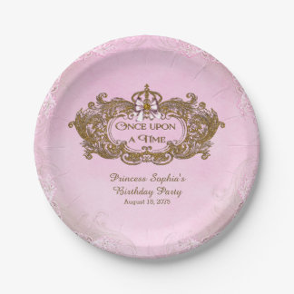 Once Upon a Time Princess Birthday Party 7 Inch Paper Plate